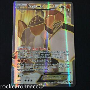 Regirock EX FULL ART HOLO RARE 43a/124 (NM/M) Fates Collide Pokemon Cards