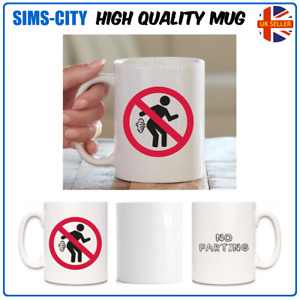 NO FARTING TRUMPING SMELLY WIND STINK FART COFFEE TEA MUG STYLE CUP MG71