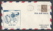 1959 COVER 7c PREXY #812 SOLE AIR MAIL USAGE ON FIRST JET FLIGHT NY TO SEE INFO
