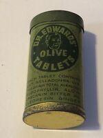 Vintage Dr. Edwards Olive Tablets Laxative Advertising Medicine Tin