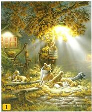 Our Friends Dog Cat Farm Life Terry Redlin 100 pc Bagged Boxless Jigsaw Puzzle