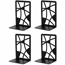 Vee Book Ends, Bookends, Black Metal For Shelves, Non Skid Heavy Duty, Books,