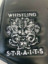 Whistling Straits Golf Course White Black Leather Magnet Blade Putter Headcover
