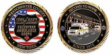 Larchmont, NY EMT EMS Ambulance Corps Challenge Coin - FREE SHIP!