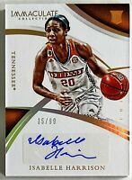 2015 Immaculate Isabelle Harrison Auto RC 35/99 Tennessee Volunteers Vols Wings