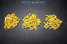 75 Pk 10 12 Gauge Vinyl Spade Connectors 25 Pcs Each 6 8 10 Terminal Fork