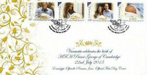 [SJ] Vanuatu Royal Baby 2013 Prince George Alexander Louis (stamp FDC)