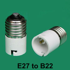 Edison Screw ES E27 To Bayonet BC B22 Light Bulb Adaptor Lamp Converter Holder