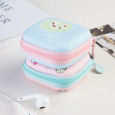 Candy Color Cute Earphone Headphone Storage Case Coin Purse Memory Card Box\