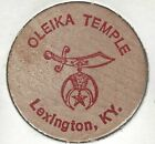 OLEIKA Temple (Shriners). Lexington, Kentucky, Gil Smith Recorder, Wooden Nickel