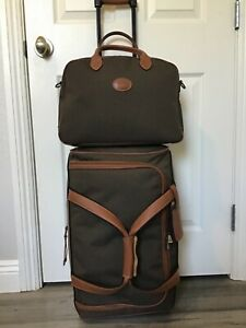 LONGCHAMP BOXFORD LUGGAGE  CARRY ON SET ROLLING EXPANDABLE DUFFLE AND BAG VGUC!