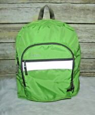 L.L. Bean Green and Gray Nylon BackPack Sling Bag Travel School Reflective Strip