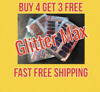 GLITTER / PEARL MAX NAIL STRIPS - BUY 4 GET 3 FREE - FREE SHIPPING WITHIN USA