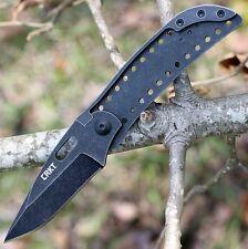 Couteau CRKT Desta Lame Acier 8Cr13MoV BlackWash Manche Métal Lock CR2784