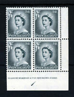 NEW ZEALAND Queen Elizabeth II 1953 ½d. Block of Four SG 723 MNH