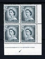 Nueva Zelanda Reina Elizabeth II 1953 1/2 D. bloque de cuatro SG 723 estampillada sin montar o nunca montada