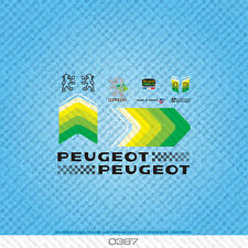 Peugeot Bicycle Decals - Transfers - Stickers - Green - Set 387