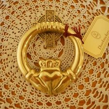 G&D Brass Claddagh Door Knocker ~ Made In Spain ~ New In Box With Hardware