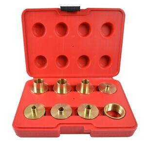 Big Horn 19604 9pc Brass Router Template Guide / Bushing Set SE 3008