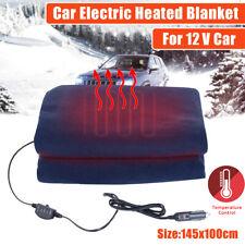 12V Electric Car Blanket Heated Fleece Travel Throw Fleece Cosy Warm Winter Gift