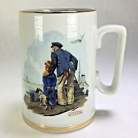 NORMAN ROCKWELL MUSEUM Looking Out To Sea Sailor Seafaring Coffee Mug 1985