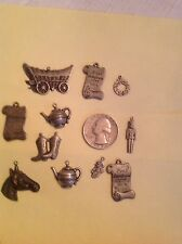 Dollhouse miniatures Flat Pewter Charms