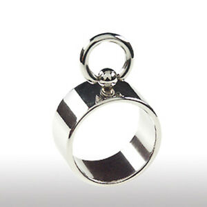 BDSM Finger Ring der O 10mm breiter Ring  SOO mit beweglichem Ring Edelstahl