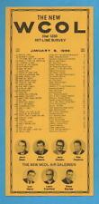 WCOL Radio Music Survey Columbus Ohio Jan 6, 1969 SEE