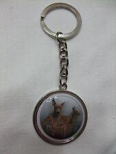 Porte-clés en métal - Chien PINSCHER MARRON