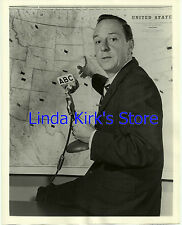 """John Daly Promotional Photograph """"Election Night Anchor & Coverage"""" ABC-TV 1956"""