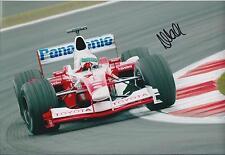 Allan McNISH SIGNED Toyota Panasonic F1 12x8 Photo AFTAL COA Autograph