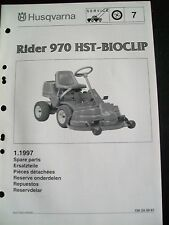 Husqvarna Ryder 970 HST Bioclip Rasenmäher ET-Liste