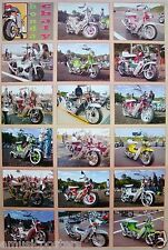"""HONDA MOTORCYCLES POSTER """"CHALY, 18 CLASSIC MOTORCYCLES"""" MOTORBIKES"""