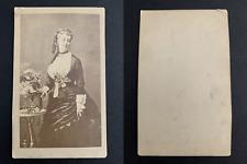 Eugénie de Montijo, impératrice CDV vintage albumen print. Tirage albu