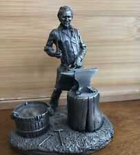 Franklin Mint People of the Old West the Blacksmith Pewter Amazing Figurine