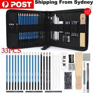 33pcs Drawing Sketch Set Charcoal Pencil Eraser Art Craft Painting Sketching Kit