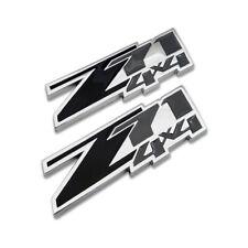 2x Black Z71 4X4 Emblem Off-Road Badge Chrome Metal Sticker Decal For Chevy GMC