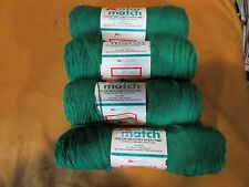 KOLOR MATCH 8 OZ  YARN  4 SKEINS OF KELLY GREEN COLOR  4 PLY WORSTED WEIGHT