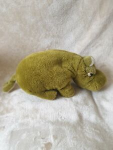 Vintage Merrythought Green Hippo Soft Toy Plush
