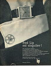 PUBLICITE ADVERTISING 015  1963  FRED LIP  montre