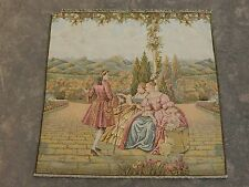 Vintage French Beautiful Scene Tapestry 74x74cm (A1078)