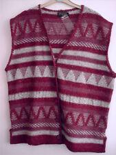 Button Wool Blend Hip Length Plus Size Waistcoats for Women