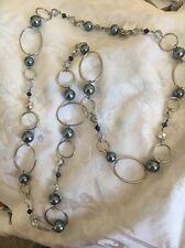 Lia Sophia Alpine 45-48 Silver Gray Necklace