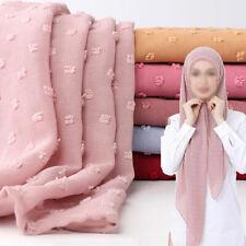 Women Female Plain Chiffon Scarf Hijab Shawls Muslim Headband Head Wraps Scarves