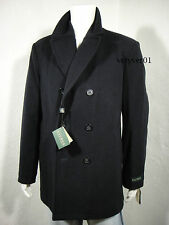 RALPH LAUREN Wool Blend Double Breasted Pea Coat Quilted Lining Navy 42R ( L )