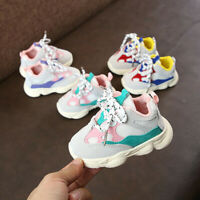 Toddler Infant Kids Baby Boys Girls Stitching Color Sneakers Running Sport Shoes