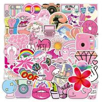 UK VSCO Pink Stickers for Hydro Flask 50Pc Ins Cartoon Phone Laptop Cute Sticker