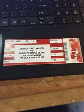 2015-16 DETROIT RED WINGS NHL TICKET STUB PICK YOUR GAME DYLAN LARKIN
