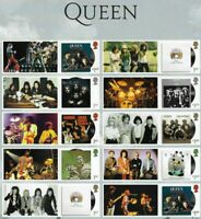 Queen -Freddie Mercury 2020 Great Britain Special postage stamps +labels