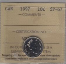 1997 Canada Ten Cents Coin (ICCS SP-67 UHC UNC. Dime)